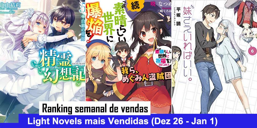 Ranking Semanal: Vendas de Light Novels (Dezembro 26