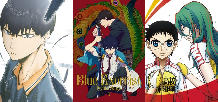 Capas destaques nesse ranking: Haikyuu!!, Ao no Exorcist e Yowamushi Pedal